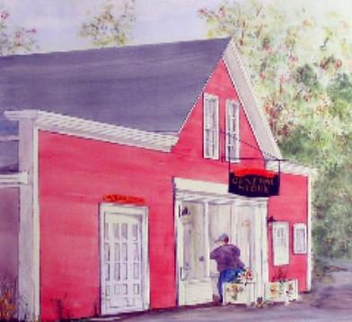 Riverbank General Store (detail) by Marg Millard