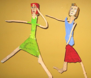 Two Gals Dancing by Carole Glasser Langille