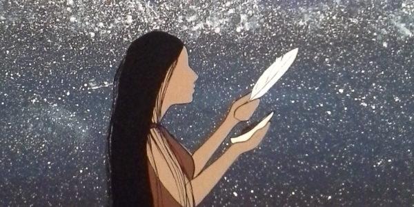 Etuaptmumk with art by Melissa Sue Labrador