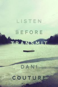 Book cover for Listen Before Transmit, showing a shoreline and a raft in the water