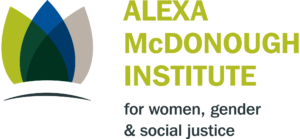 logo for the Alexa McDonough Institute for Women, Gender and Social Justice